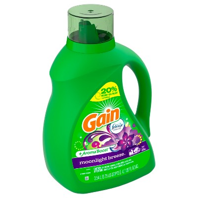 Gain Moonlight Breeze With Febreze Liquid Laundry Detergent - 120 fl oz