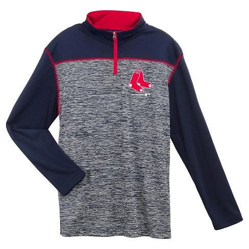 MLB Boys' Team Logo Spacedye Quarter Zip Pullover - image 1 of 2