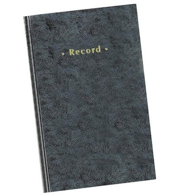 """MyOfficeInnovations Blue Marbled Hardcover Record Book 11-3/4"""" x 7-1/4"""" 886673"""
