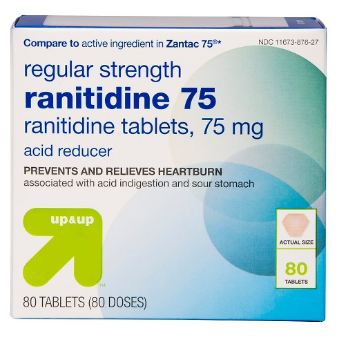 Ranitidine Acid Reducer 75mg Tablets - 80ct - Up&Up™ (Compare to active ingredient in Zantac 75) - image 1 of 3
