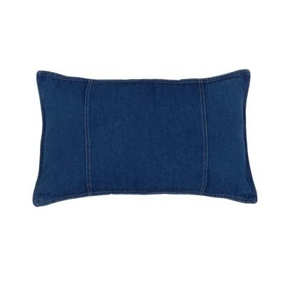 Denim Lumbar Pillow - Blue