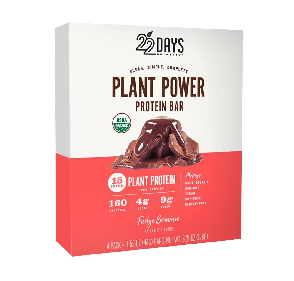 Image of 22 Days Nutrition Organic Vegan Protein Bar - Fudge Brownie - 6.21oz