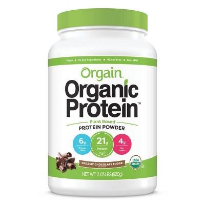 Orgain Organic Vegan Protein Plant-Based Protein Powder - Creamy Chocolate Fudge - 2.01lbs