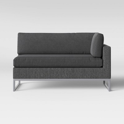 see this item in 3D & Howell 2pc Left Arm Patio Loveseat u0026 Corner Chaise Lounge Chair Gray ...