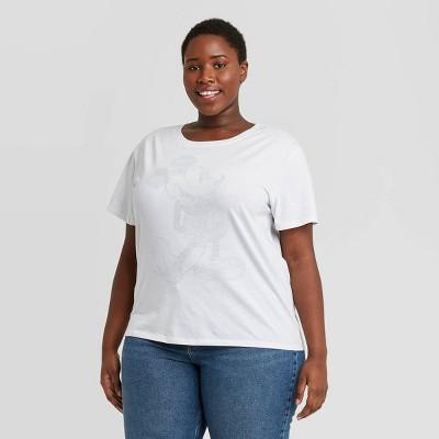 Women's Disney Classic Mickey Short Sleeve Graphic T-Shirt - White