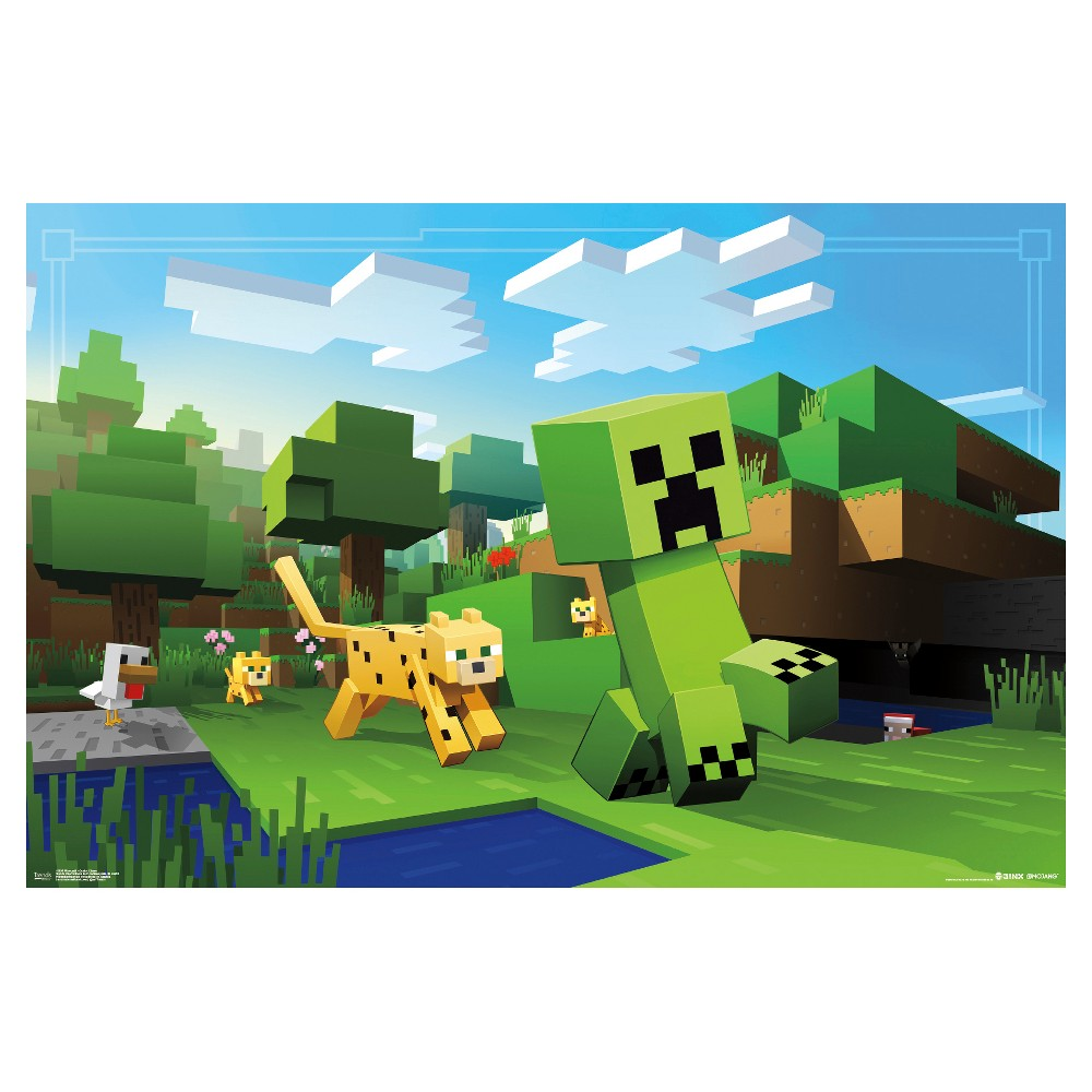 Minecraft Ocelot Chase Poster 34x22 - Trends International