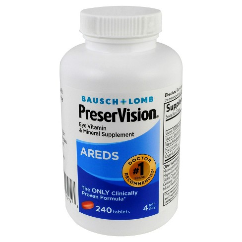 Bausch & Lomb PreserVision® AREDS Eye Vitamin Tablets - 240ct - image 1 of 1