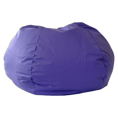 Excellent Gold Medal Leather Look Bean Bag Chair Purple Machost Co Dining Chair Design Ideas Machostcouk