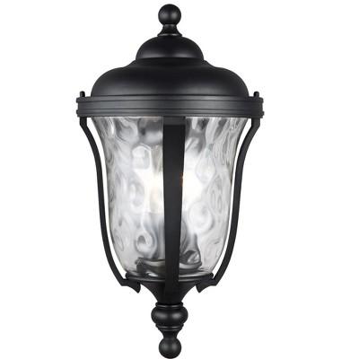 Sea Gull Perrywood 3 Light Black Outdoor Fixture 8614203-12