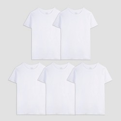 Fruit of the Loom Boys' 5pk T-Undershirt - White