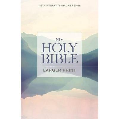 NIV, Holy Bible, Larger Print, Paperback - by  Zondervan