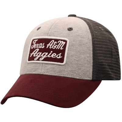 NCAA Texas A&M Aggies Men's Gray Cotton with Mesh Snapback Hat