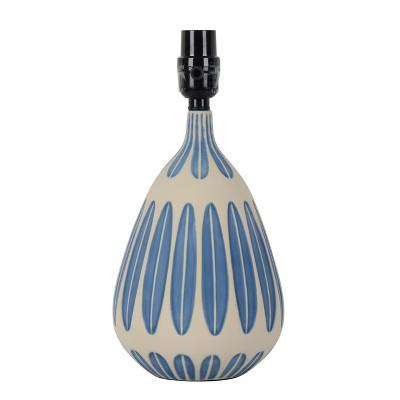 Small Retro Pattern Ceramic Table Lamp Base Blue - Project 62™