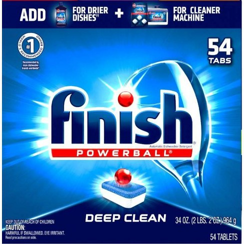 Finish Powerball Cleaners - Fresh Scent - 54ct - image 1 of 1