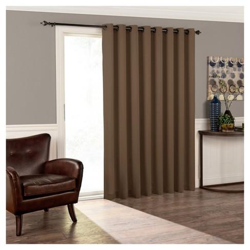 """84""""x100"""" Tricia Grommet Top Room Darkening Extra Wide Door Curtain Panel - Eclipse - image 1 of 3"""