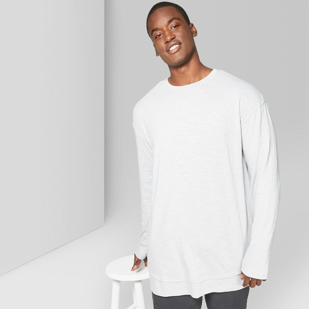 Men's Big & Tall Long Sleeve Layered Slub T-Shirt - Original Use Masonry Gray 3XBT, Size: Small was $18.0 now $11.69 (35.0% off)
