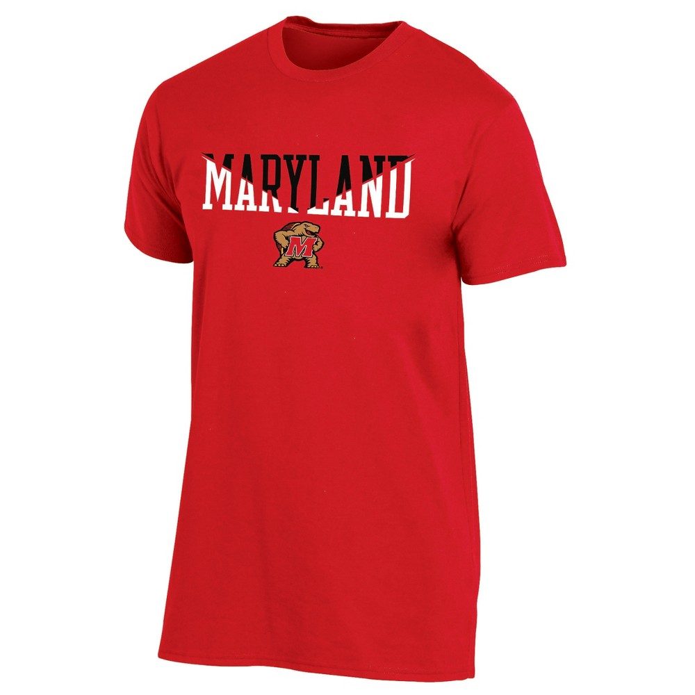 Maryland Terrapins Men's Short Sleeve Core Wordmark T-Shirt - S, Multicolored