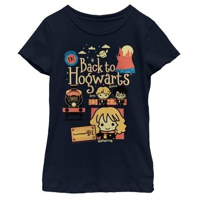Girl's Harry Potter Back to Hogwarts Cartoon T-Shirt