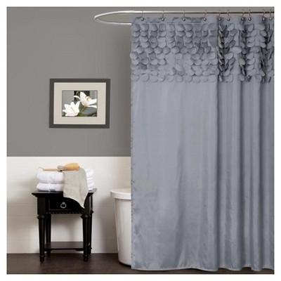 Lillian Shower Curtain Gray - Lush Décor