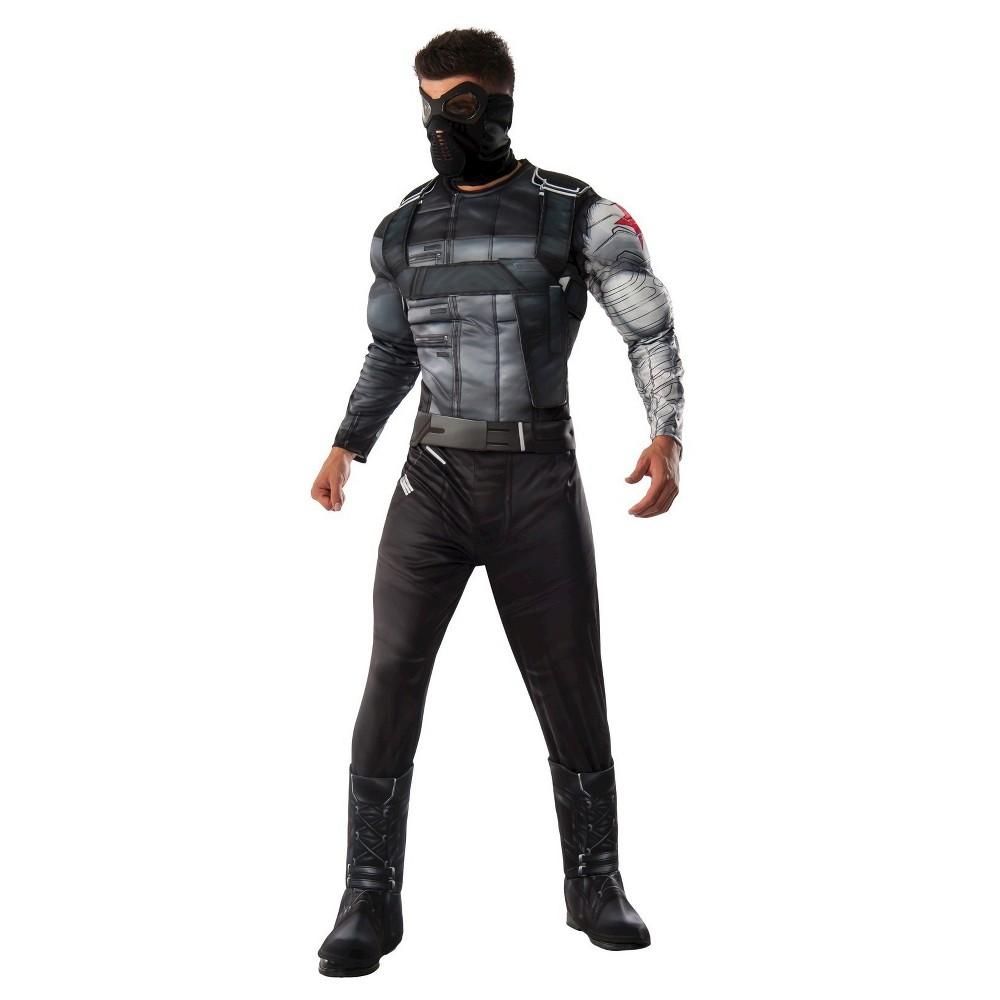 Marvel's Captain America: Civil War Men's Winter Soldier Deluxe Muscle Chest Costume