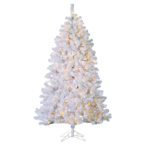 About this item - 7ft Pre-Lit Artificial Christmas Tree Full Flocked... : Target