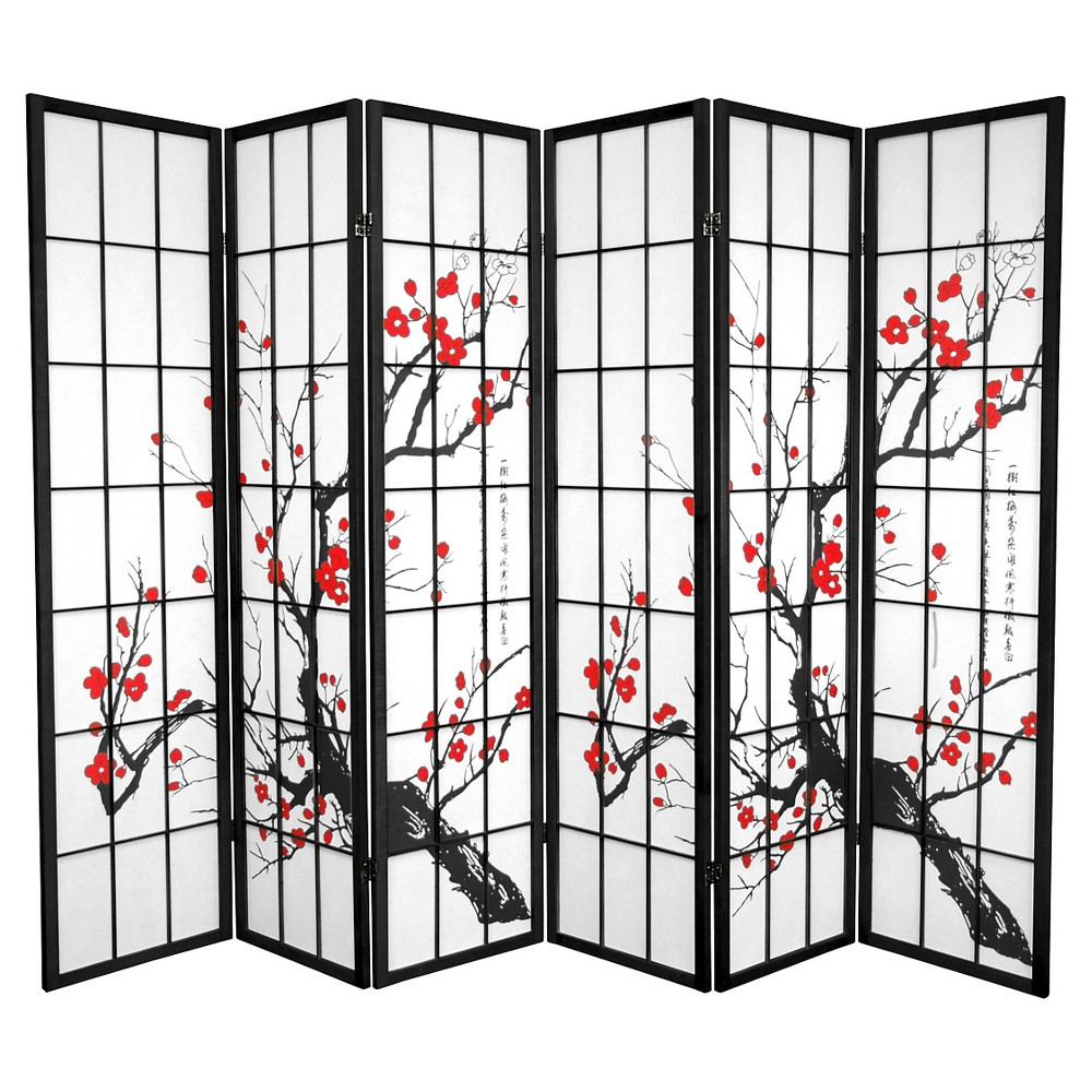 6 ft. Tall Flower Blossom Divider - Black (6 Panels)