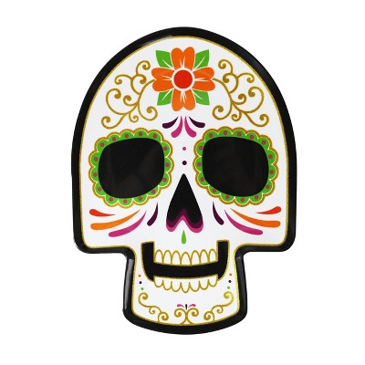 11'' Day of the Dead Melamine Skull Plate
