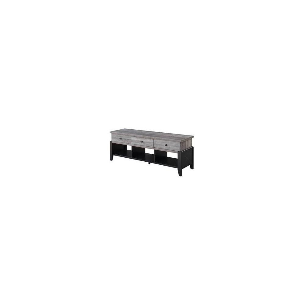 60  Newport Yorktown TV Stand Gray/Black - Johar Furniture 60  Newport Yorktown TV Stand Gray/Black - Johar Furniture