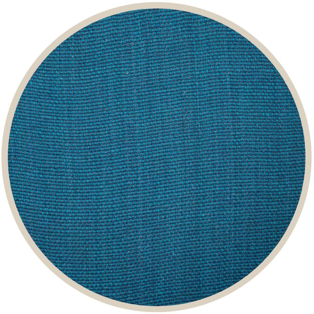 Blue Basket Weave Woven Round Area Rug 6' - Safavieh