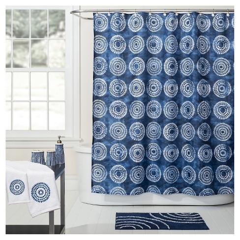 Waterfall Fabric Shower Curtain Bluewhite Saturday Knight Ltd