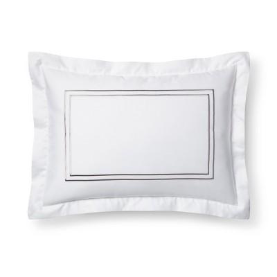 White/Cashmere Grey Hotel Sham (King)- Fieldcrest®