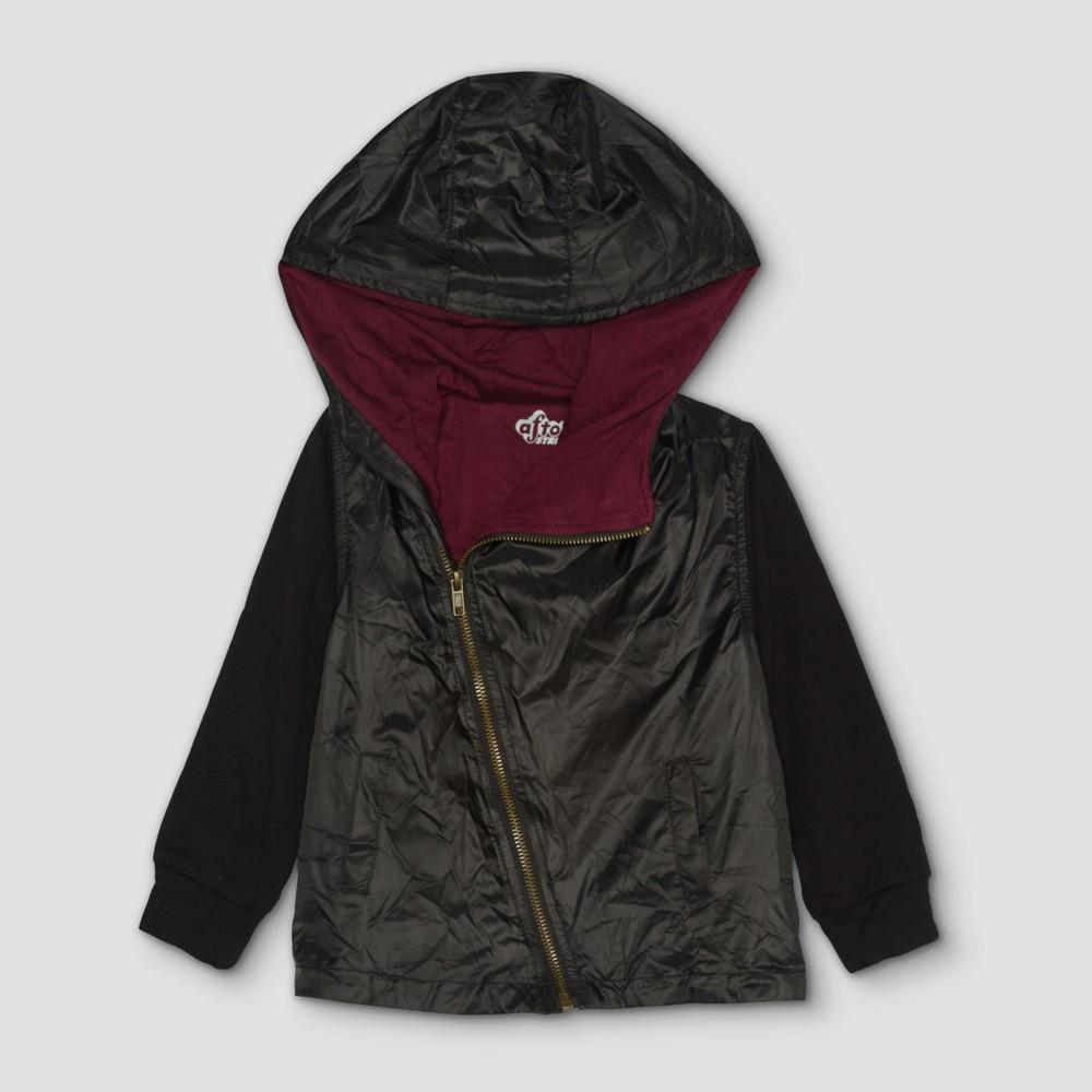 Image of Toddler Boys' Afton Street Windbreaker Jacket - Black - 12 M, Boy's, Size: Medium