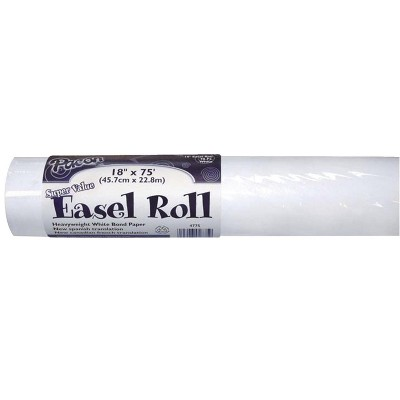 Art Street Super Value Easel Paper Roll, 18 Inches x 75 Feet, White