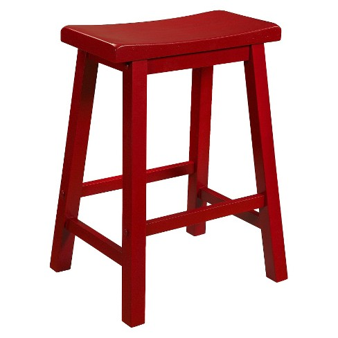 24 Quot Owen Saddle Counter Stool Red Powell Company Target