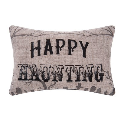 """C&F Home 8"""" x 12"""" Goth Happy Haunting Printed Petite Pillow"""
