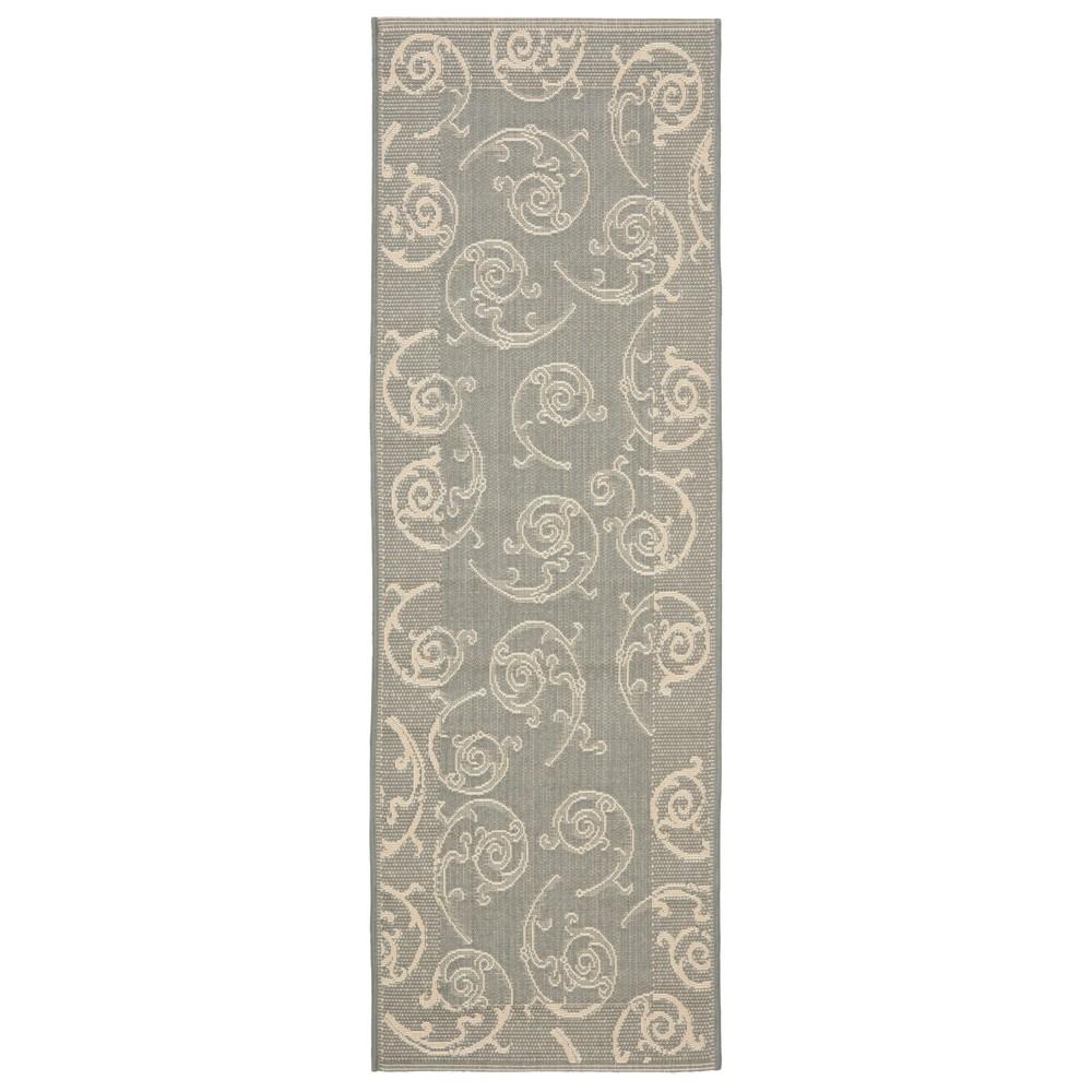 Pembrokeshire 2'4 X 14' Runner Outer Patio Rug - Gray / Natural - Safavieh, Gray/Natural