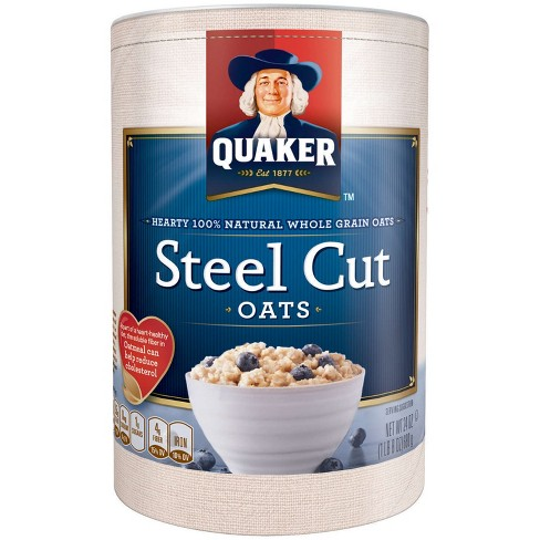 Quaker 100% Whole Grain Steel Cut Oats Canister - 30oz - image 1 of 5