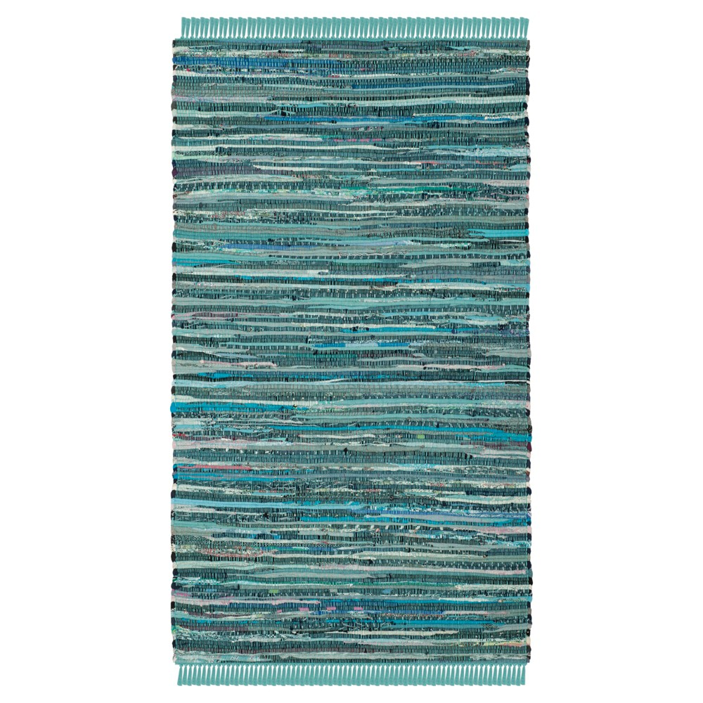 Turquoise Spacedye Design Flatweave Woven Accent Rug 3'X5' - Safavieh, Turquoise/Multicolor