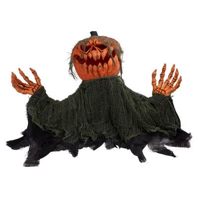 "Northlight 30"" Black and Orange Animated Pumpkin Halloween Decoration"