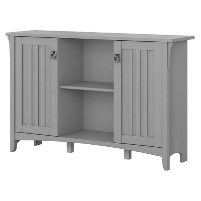 Salinas Accent Storage Cabinet with Doors Gray - Bush Furniture