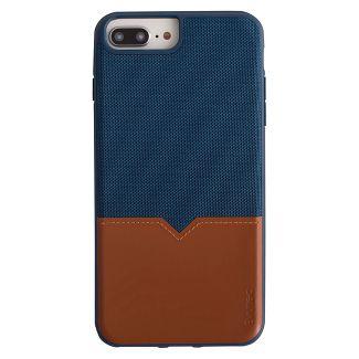 Evutec Apple iPhone 8 Plus/7 Plus/6s Plus/6 Plus Northill Case (with Car Vent Mount) - Blue/Saddle