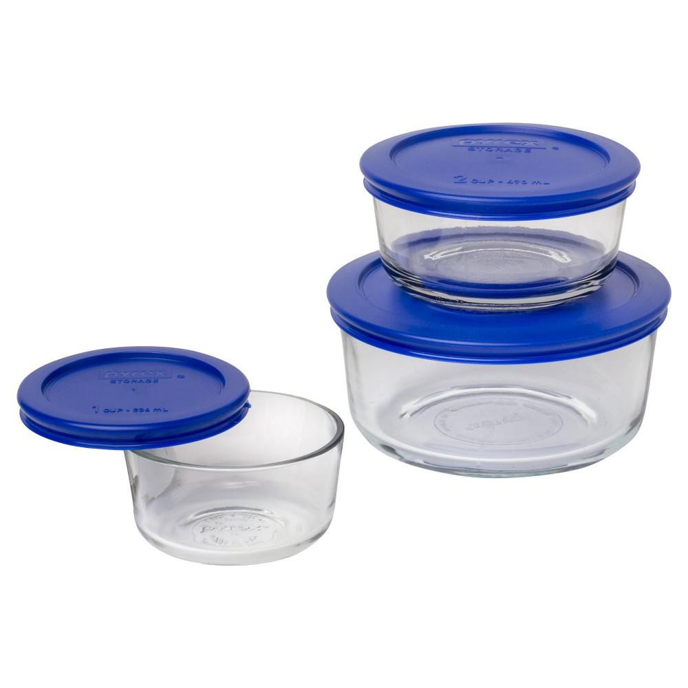 Pyrex 6pc Glass Storage Set