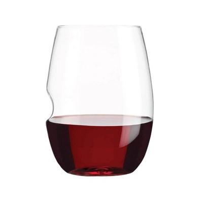 GoVino 16oz 2pk Plastic Red Wine Glasses
