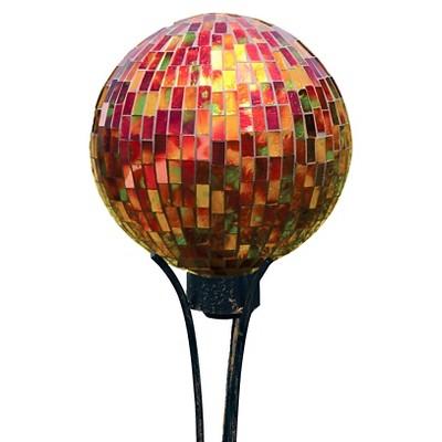 10  Mosaic Gazing Ball - Red Hues - Carson