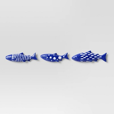 Set of 3 Stoneware Fish Wall Decor - Threshold™