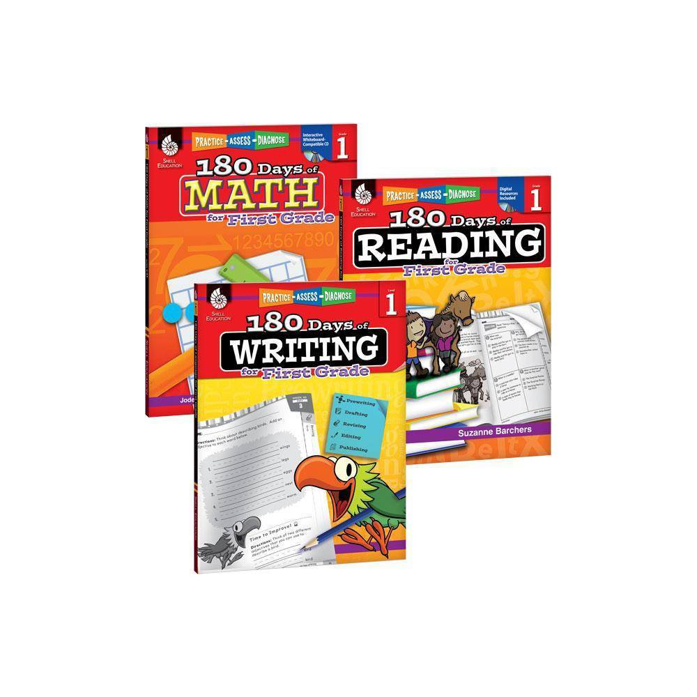 180 Days Of Reading Writing And Math For First Grade 3 Book Set 180 Days Of Practice By Suzanne I Barchers Jodene Smith Paperback