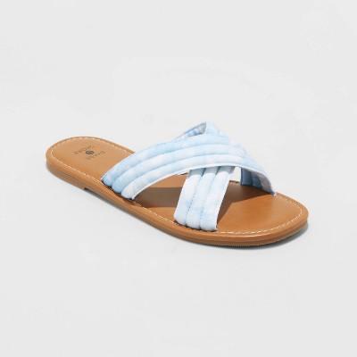 Women's Perla Crossband Slide Sandals - Shade and Shore™