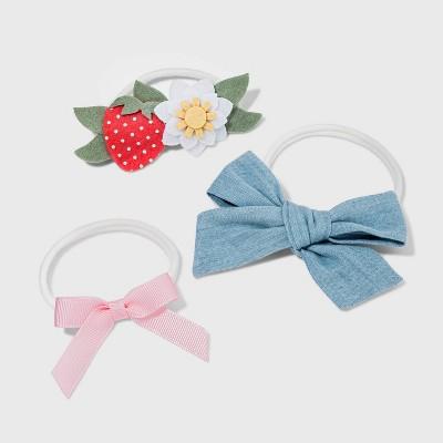 Baby Girls' 3pk Strawberry Headband Set - Cat & Jack™