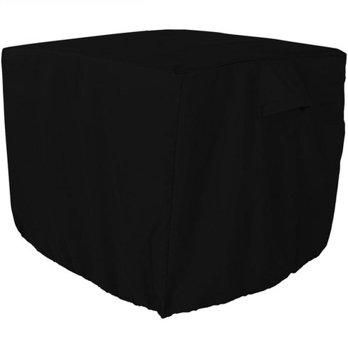 "34 X 30"" Square Heavy-Duty Air Conditioner Cover - Black - Sunnydaze Decor - image 1 of 5"