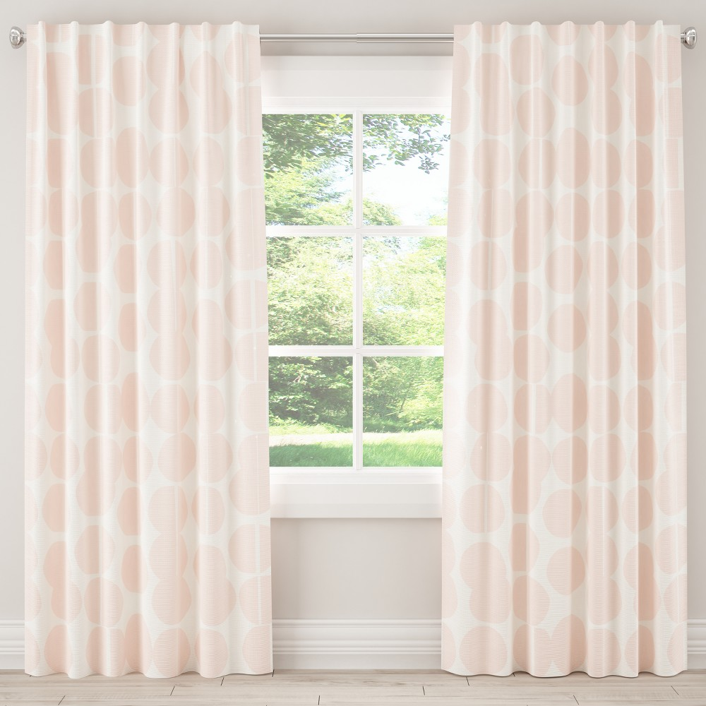 Image of Unlined Curtain Potter Dot Pink 108L - Designlovefest